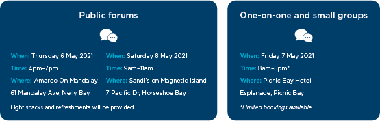 Magnetic Island public forum date information